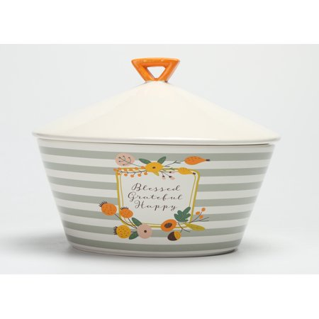 Mainstays Harvest Floral 2-Piece Serve Bowl and Platter