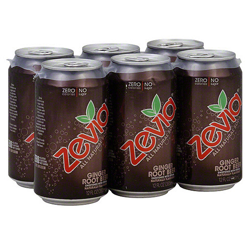Zevia Ginger Root Beer, 12 oz, 6ct (Pack of 4)