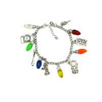Stranger Things Movie TV Series Fashion Silvertone Novelty Charm Bracelet