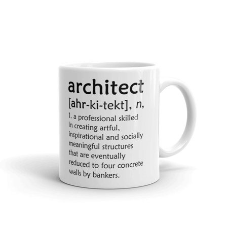 Architect Gift - Architect Definition Architecture Coffee Tea Ceramic Mug Office Work Cup Gift