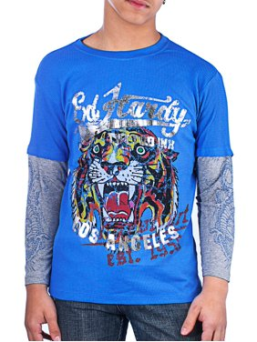 45459711 Product Image Ed Hardy Kids Thermal Long Sleeve T-Shirt. Product Variants  Selector. Black/Tiger