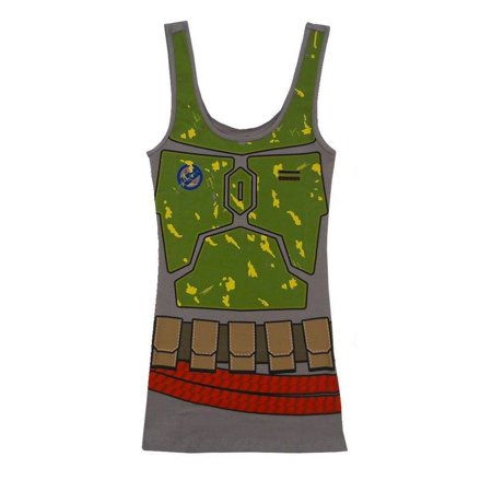 Star Wars I am Boba Fett Costume Tank Dress | S