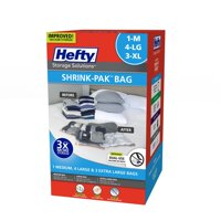 Hefty SHRINK-PAK 1 Medium, 4 Large, & 3 XL Vacuum Storage Bags