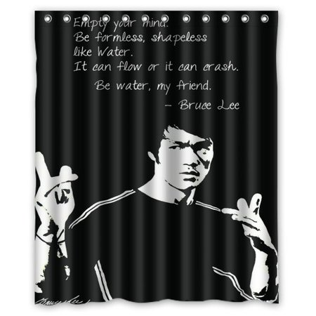 DEYOU Bruce Lee Water Shower Curtain Polyester Fabric Bathroom Size 60x72 Inches