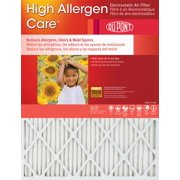 14x14x1 (13.75 x 13.75) DuPont High Allergen Care Electrostatic Air Filter (2 Pack)