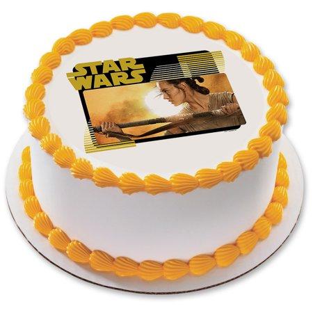 Star Wars Rey 75 Round Edible Cake Topper Each Walmartcom