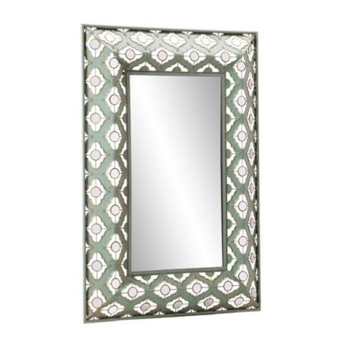 Southern Enterprises Sindi Decorative Mirror in Distressed Agate Green