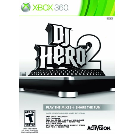 2 Bundle Xbox 360 (Activision DJ Hero 2 Turntile Bundle -Xbox)