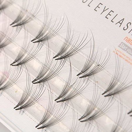 48 Pcs Pro Makeup Individual Cluster Eyelashes Fake False Eyelashes - 9mm (Fake Suppressor 9mm)