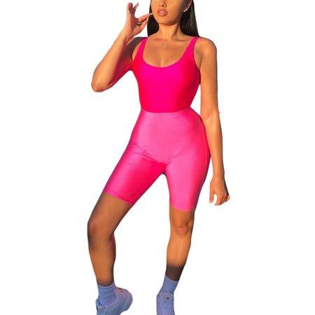 Womens Cycling Shorts Dancing Neon Super Stretch Shiny High Waist Plain Short Pant Skinny Summer Stretchy (Best Womens Cycling Shorts)