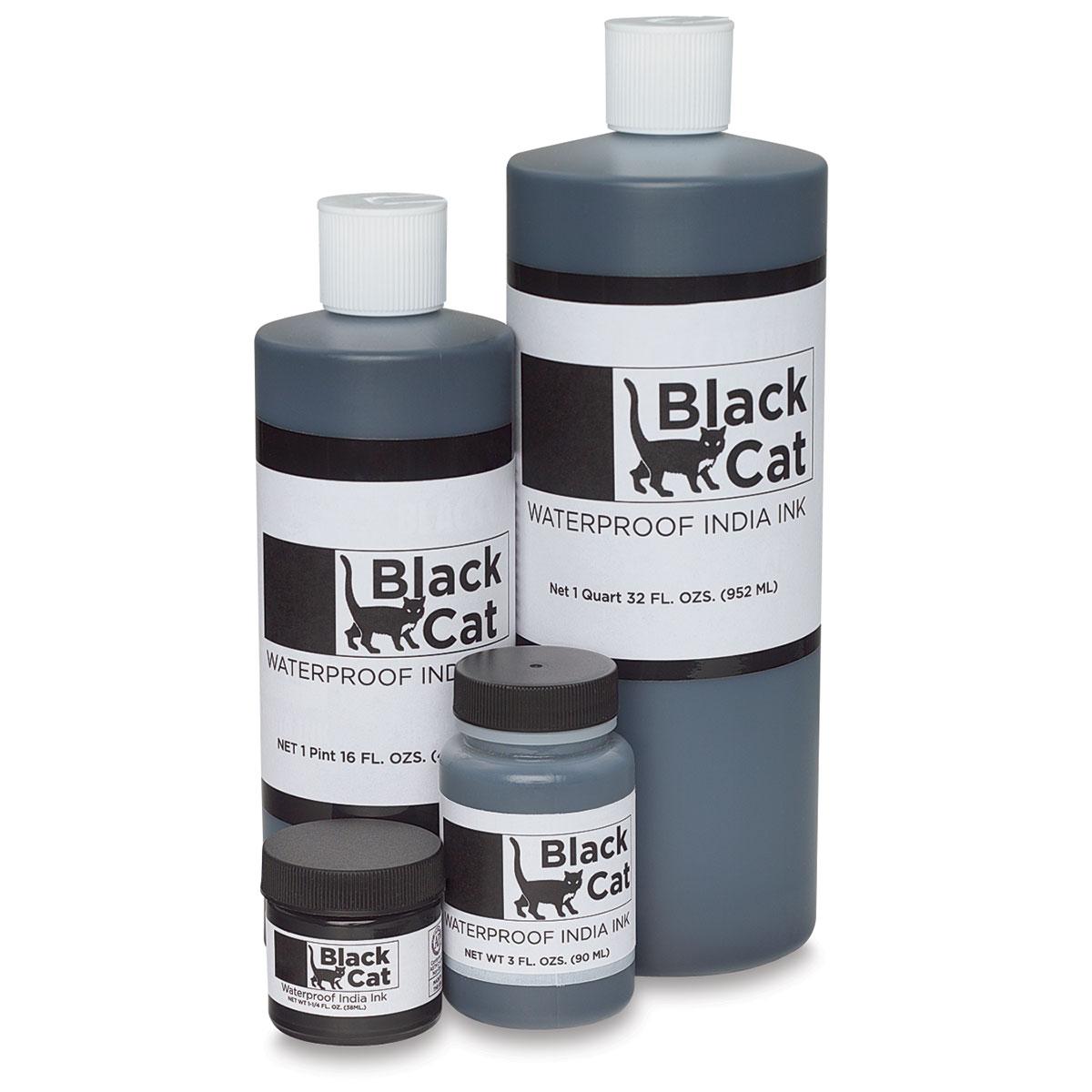 Black Cat Waterproof India Ink
