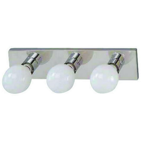Boston Harbor Dimmable Vanity Light Fixture, (3) 100 W, Medium, Type G Lamp, Chrome