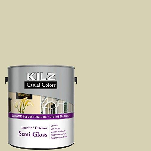... Kilz Casual Colors Interior Latex House Paint, Semi Gloss, Garden Moss,  1