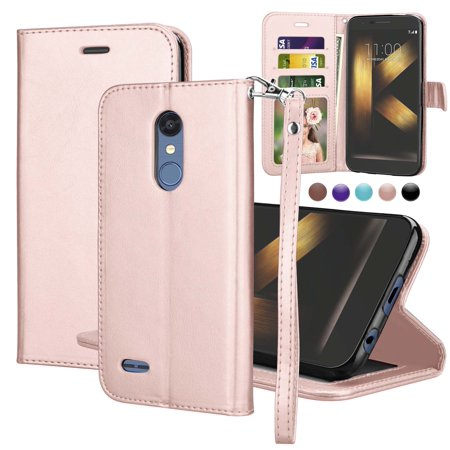 "Njjex For 5.3"" LG K30 / K10 2018 / Premier Pro LTE / K10α 2018 / K10 Alpha / K10+ 2018 / K10 Plus 2018 Wallet Cases, Pu Leather Magnet Stand Credit Card Holder Flip & Wrist Strap Wallet Cases Cover"