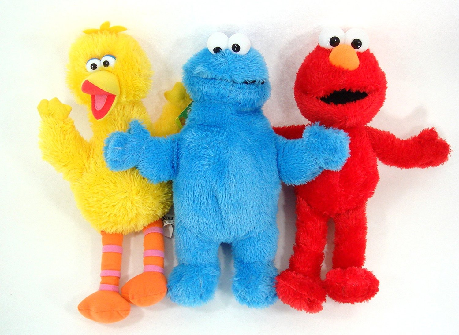 "Sesame Street Elmo and Friends 3 Piece 13"" Plush Set Includes Elmo, Cookie Monster and Big Bird by"
