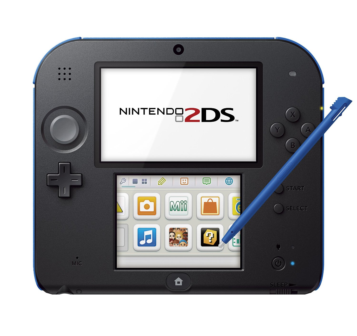 Refurbished Nintendo 2DS FTRSBM11 Mario Kart 7 Handheld Video Game Console, Electric Blue