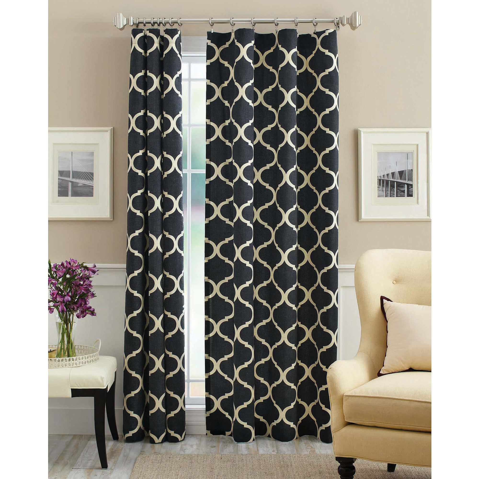 linen panel full design brooklyn size luxury and drapes large colorblock curtains black white of veratex curtain window grommet