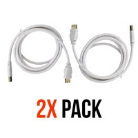 2 Pack Belkin Universal 6Ft A/A Male USB to Female USB 1.0 Data Extension Cable