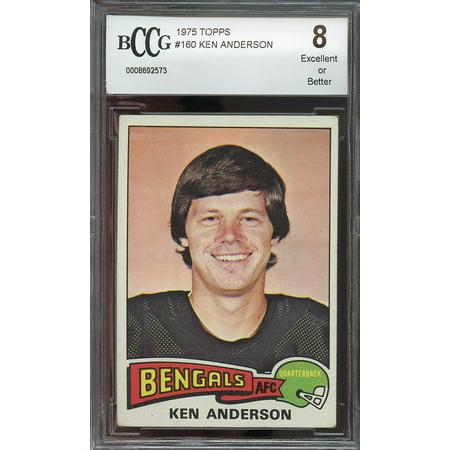 1975 Topps  160 Ken Anderson Cincinnati Bengals Bgs Bccg 8