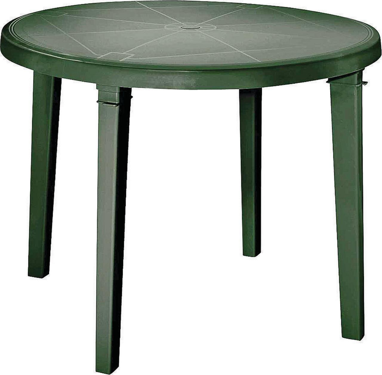 Image of Adams 8150-01-3770 Resin Dining Table, 38 in Dia X 28.6 in H, Round, 100% Polypropylene, Sage Green