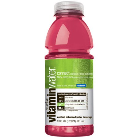 Glaceau Connect Vitamin Water Black Cherry Lime 20 Oz