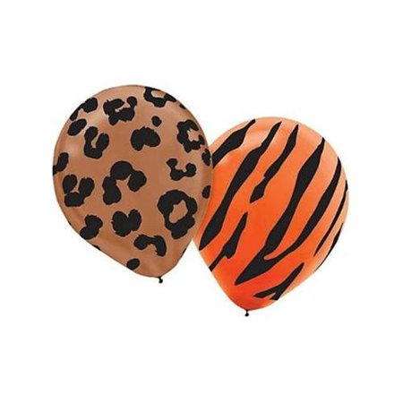 Animal Print Latex Assorted 12