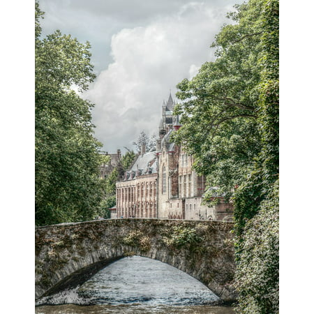 Canvas Print Channel Canal Romantic Historically Bruges Stretched Canvas 10 X 14
