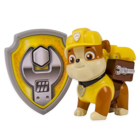 Paw Patrol Action Pack Pup & Badge, - Paw Patrol Rubble