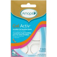 3 Pack - Amope GelActiv Invisible Gel Sensitive Spots Insoles for Women, 1 pair, Size 5-10