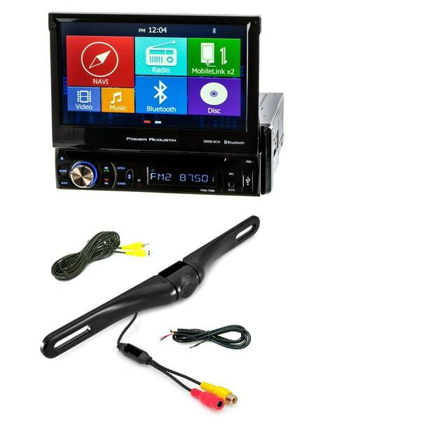 New Power Acoustik Pdn 726b Dvd Cd Player 7 Quot Lcd Gps Navigation Bluetooth Usb W Cam 600 License Plate Bolt On Rear View Camera W Built In I R Camera Walmart Com Walmart Com