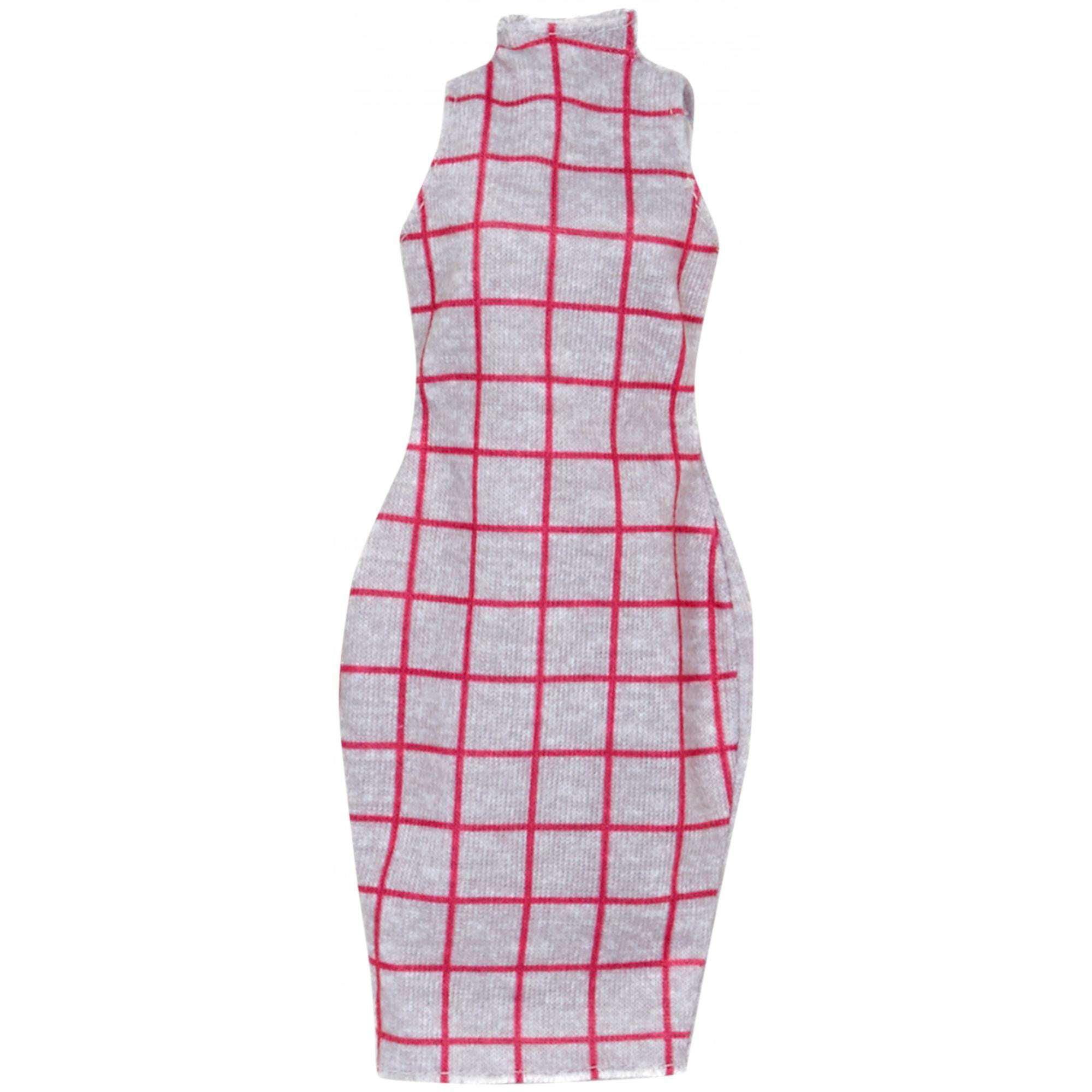 Barbie Trendy Gray Fashion Dress 14
