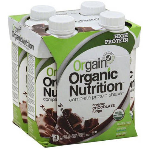 ***Discontinue***Orgain Organic Nutrition Creamy Chocolate Fudge Complete Protein Shake, 11 fl oz, 4 Pack, (Pack of 12)
