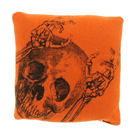 Halloween SKELETON PILLOW Fabric Skull Bones Primitive 25246](Halloween Bones Sayings)