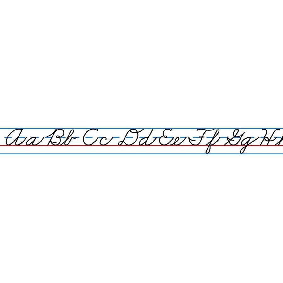 """Carson Dellosa Self-Adhesive Desk Tape Cursive Writing Alphabet, 20"""" x 1"""", 36 per Dispenser"""