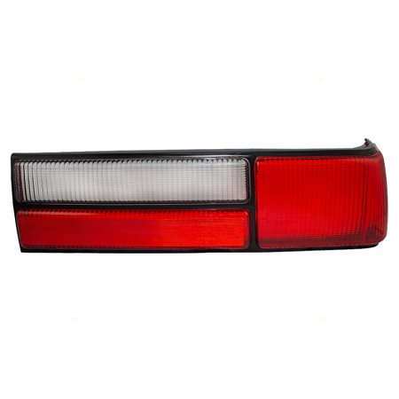 BROCK Taillight Taillamp Lens Passenger Replacement for 87-93 Ford Mustang Fox Body LX Style E7ZZ13404A