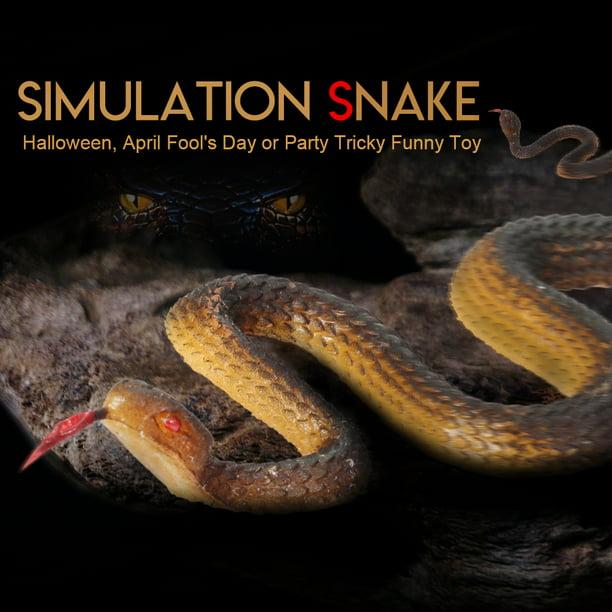 Black Rubber Snake Fake Garden