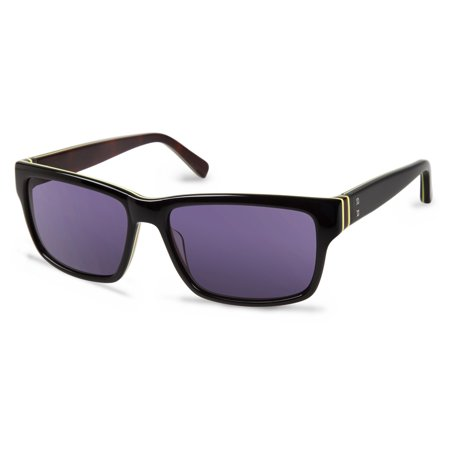 Cynthia Rowley No. 28 Unisex Black Round Sunglasses