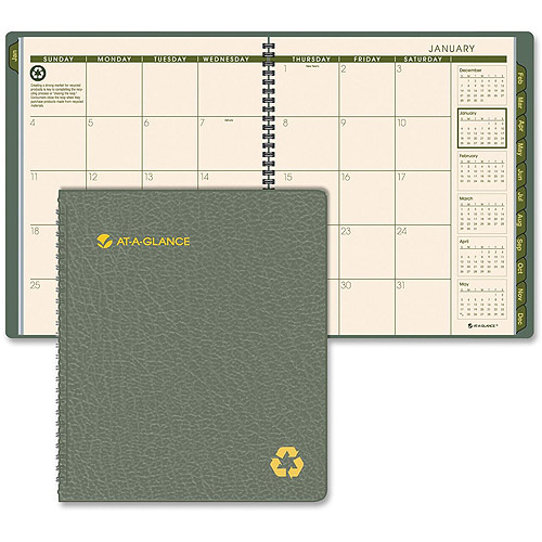 At-A-Glance Green Living Recycled Monthly Planner