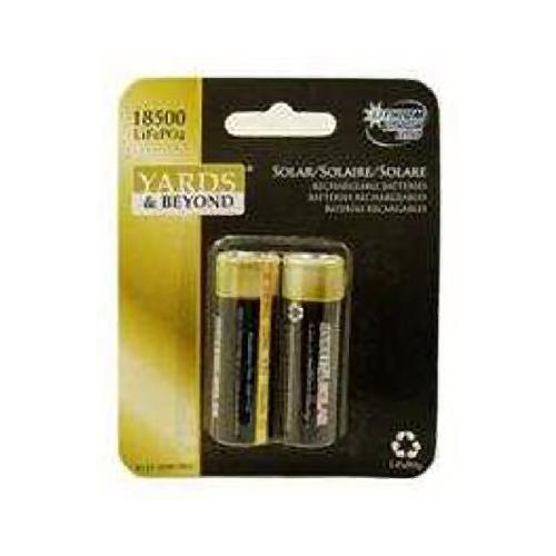 Jiawei Technology BT-LP-18500-1000-D2 Lithium Rechargeable Solar Light Batteries,  2-Pk.