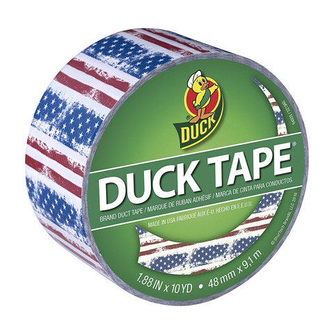 L Multicolored  Camouflage  Duct Tape Duck  1.88 in W x 10 yd