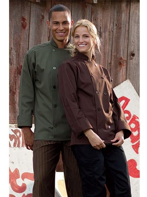 0488-0204 Orleans Chef Coat in Brown - Large