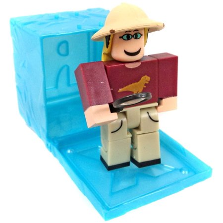 Roblox RED Series 3 Dinosaur Simulator: Paleontologist Mini Figure [Blue  Cube with Online Code] [No Packaging]