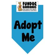 Fun Dog Bandana - Adopt Me (Brights) - One Size Fits Most for Med to Lg Dogs, turquoise pet scarf