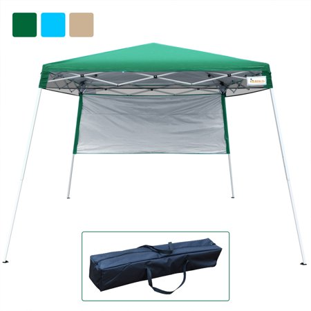 Quictent 10x10 Feet EZ Pop Up Canopy Tent Instant Expedition Canopy 100% (Blue Lounge Cool Feet)