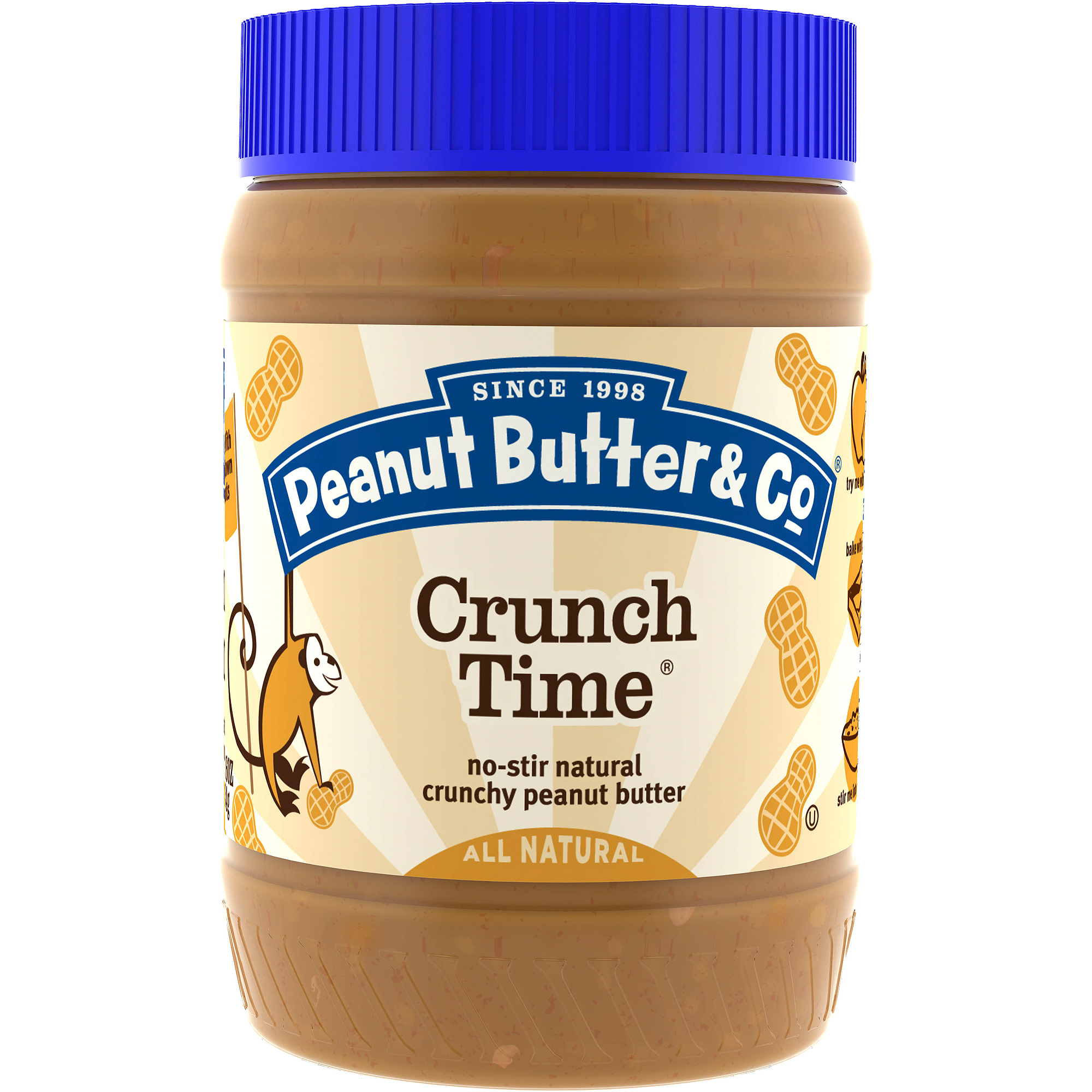 Peanut Butter & Co. Crunch Time Peanut Butter, 16 oz  (Pack of 6)