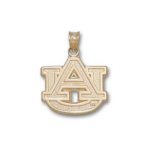 NCAA - Auburn Tigers 10K Gold ''AU'' 5/8'' Pendant