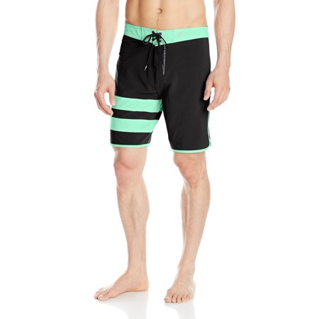 Mens Phantom 60 Block - Hurley Men's Phantom Block Party Board Shorts Black Mint