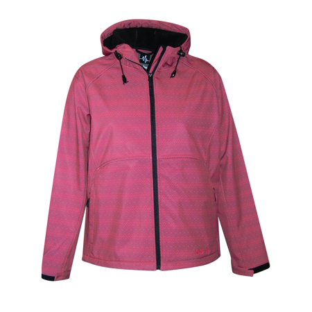 Pulse Womens Extended and Plus Size Soft Shell Hooded Jacket 1X-6X - Pink Ladies Grease Jacket