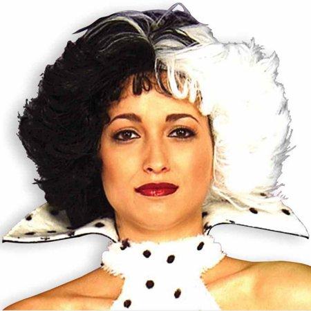 Cruella: Dog Loving Diva Adult Wig - Wig On Dog