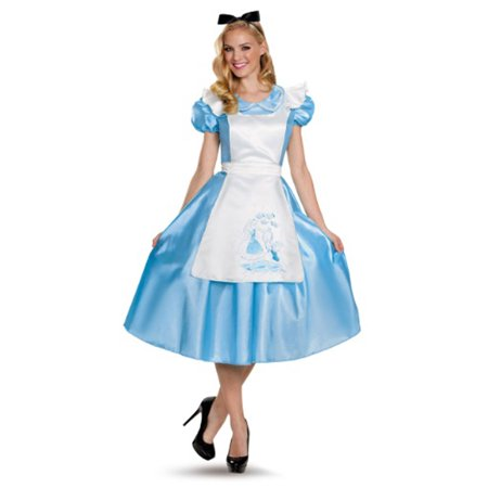 Alice in Wonderland Classic Alice Deluxe Adult Costume (Alice In Wonderland Costume Diy)